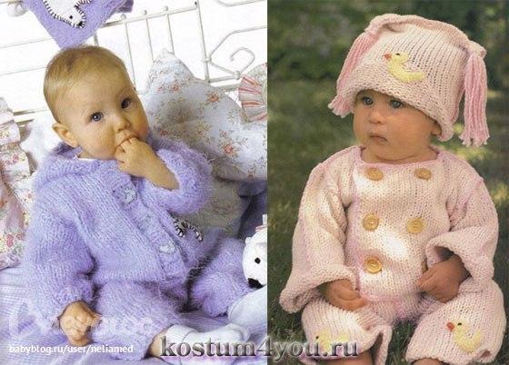 Вязание одежды для детей 1 года
