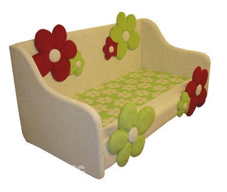 Детская кровать с матрацем - увеличить.