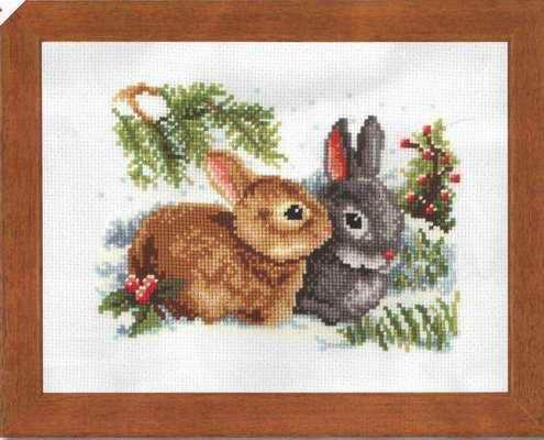 Вышивка Крестом Кролики