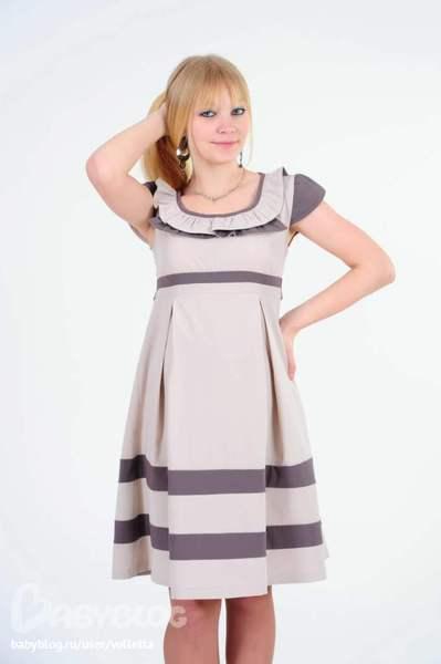 Недорогие красивые платья для беременных 8