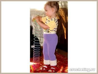 Вязание крючком Модели для детей Штанишки детские.