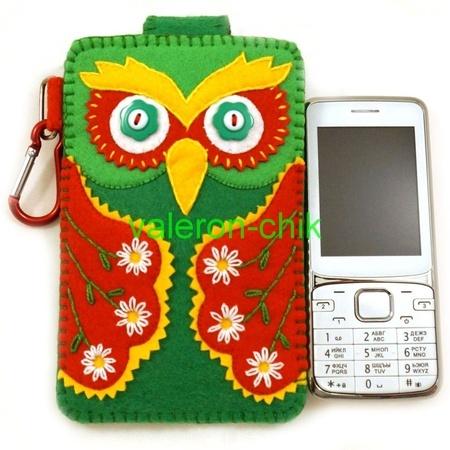 Чехол для телефона сова из фетра своими руками