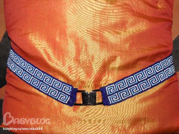 Аксессуары ручной работы.  Ярмарка Мастеров - ручная работа Пояс из бисера для джинс.  Handmade.