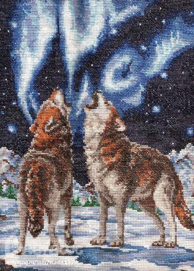 Схема для вышивки: Волки-3 ФОТО #1.
