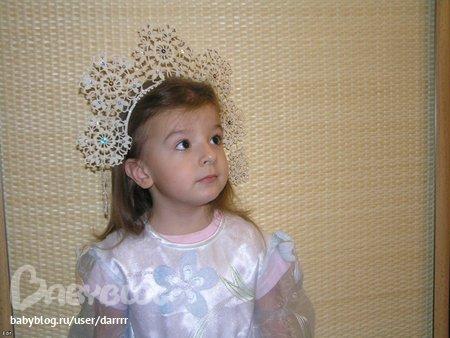 Корона для костюма снежинка