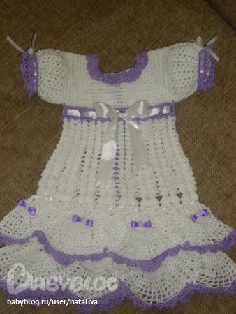 схем вязания крючком — платья
