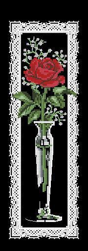 Категория.  Вышивка крестиком - Роза в кружевах.  Просмотров: 185 Дата.