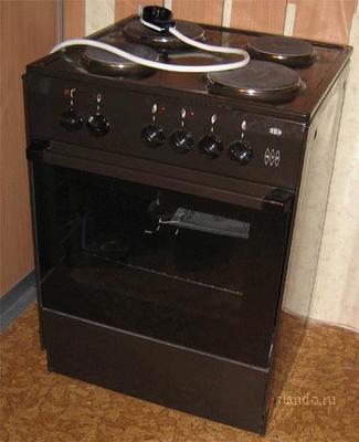 Продаю недорого электроплиту Зви 417 (2 500 руб.  Б/у 1 мес.  Ширина 60см., коричневый цвет, 4 конфорки.