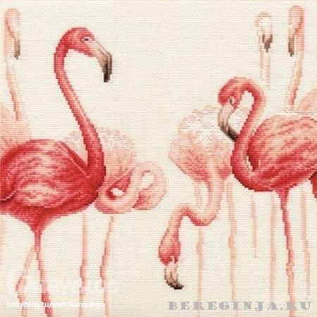 Набор для вышивания Золотое Руно Ф-003 (Фламинго.