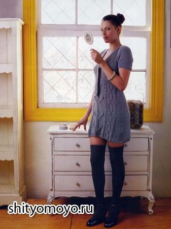 Вязание спицами платья схемы фото.