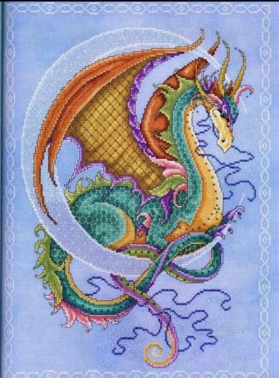 Схема для вышивки: Дракон ФОТО #1.