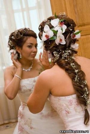 Прически на свадьбу косы схемы.