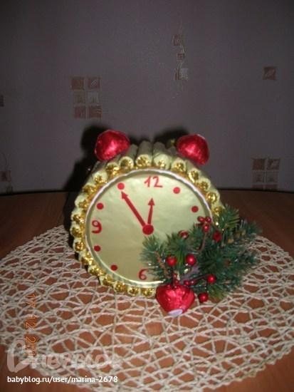 """Новогодние часики """" ProstoDelkino.com - поделки своими руками."""