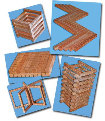 Если в группе или классе 2-3 комплекта Счётных палочек (СП), можете...  В наборе 20 деревянных брусочков 12,5х12...