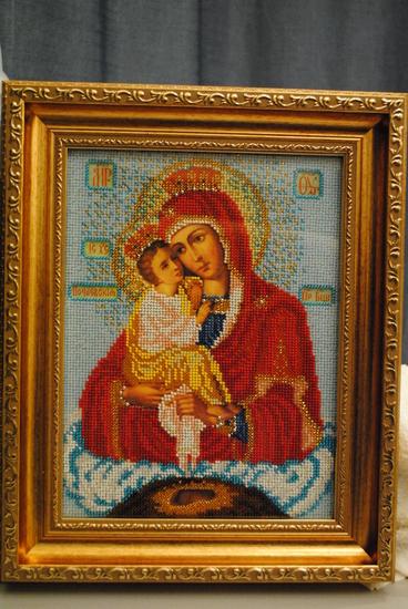 Забрала сегодня из багетной мастерской свои иконы: Богородица Почаевская, Матронушка, Богородица Неувядаемый Цвет А...