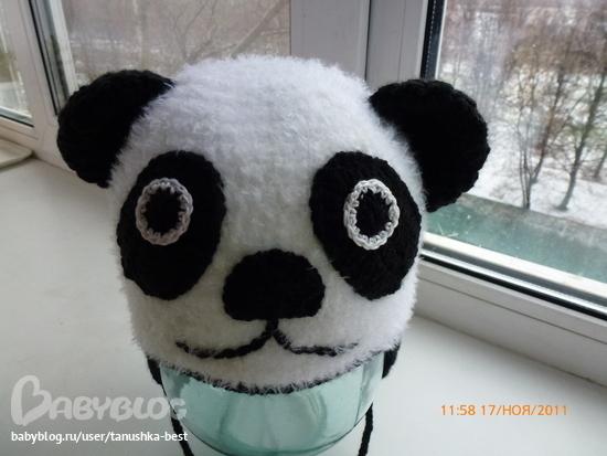 панда - схема вязания 3-х