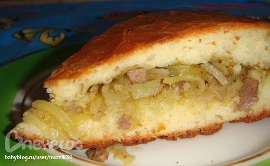 пирог с курой и картошкой