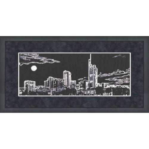 """...для вышивания Золотое руно Золотое руно - наборы для вышивания Силуэты: Набор для вышивания  """"Ночной город """"..."""