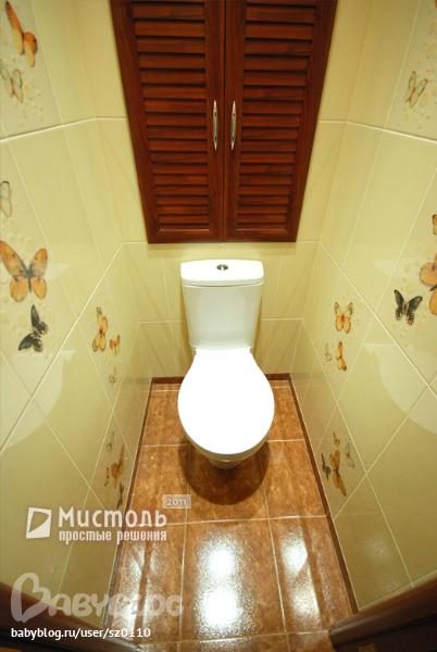 Как положить плитку на стене в туалете