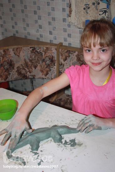 BabyBlog.  Ольга.  Автор. подделка на школьную выставку... помогал папа с другом.