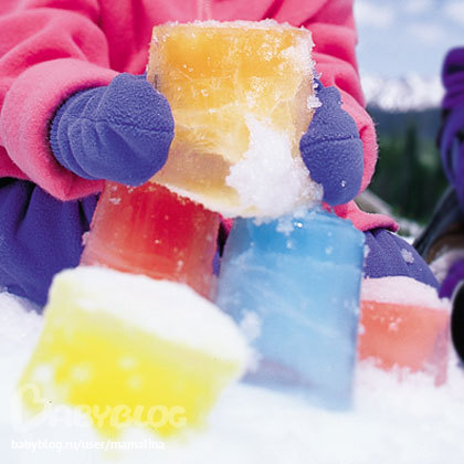 Цветной лёд своими руками