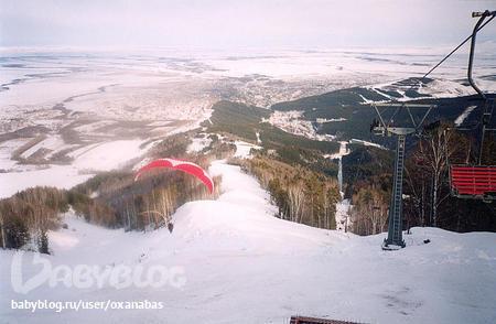 горнолыжная трасса на горе Церковка Белокуриха.