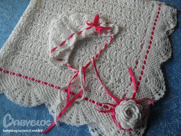 Вязание на спицах уголок для новорожденных