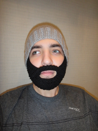 шапка с бородой схема вязания.