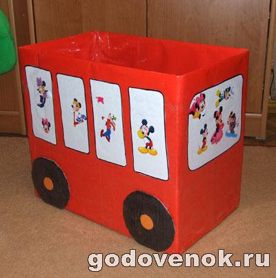 Коробка своими руками из картона для игрушек 57