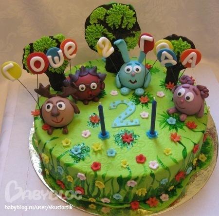 фото детских тортов смешарики