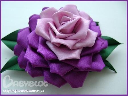 Re: Цветы из ткани,канзаши.