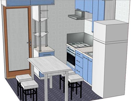маленькая кухня хрущевка дизайн фото. маленькая комната.