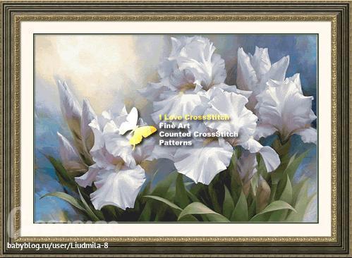 Буклет схем вышивка крестом White Iris Elegance 2 Скачать бесплатно Название:Буклет схем вышивка крестом White Iris...