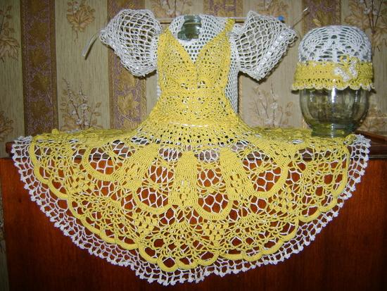 вязание крестильного платья