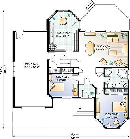 ПРОЕКТ ДОМА W3203.  Проекты домов, проекты загородных домов, скачать проекты домов.  План 1-го этажа дома, коттеджа.