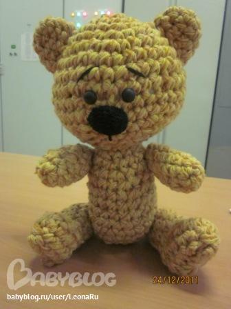 Вязаный медведь схема вязания.