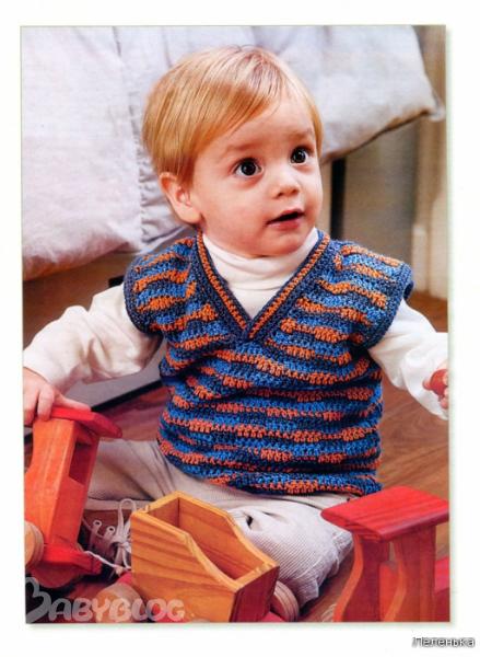 вязание для девочек жилет.