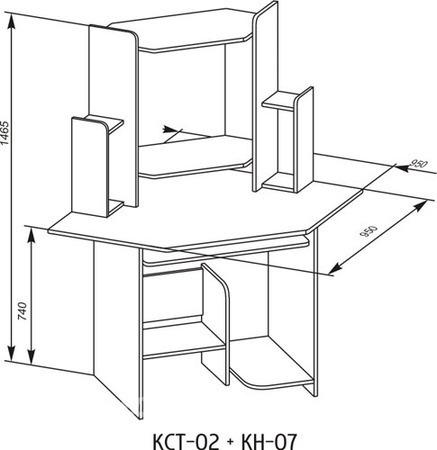 Стол компьютерный угловой 049.