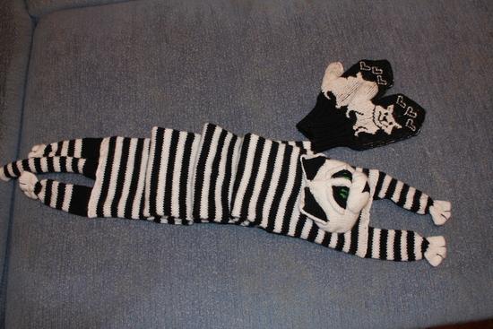 Схема шарф енот.