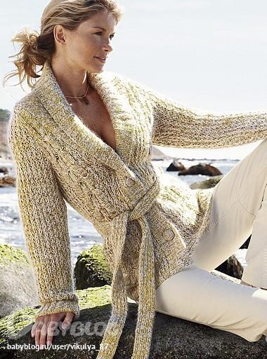 Одеваемся со вкусом.  Вязанные кардиганы жакеты, схемы, описания .  Кройка, шитье, вязание - способы и приемы.