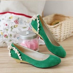 Туфли На Танкетке Зеленые
