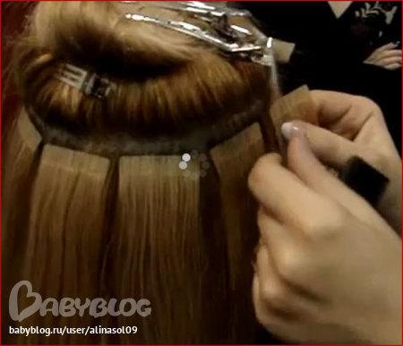 Ленточное наращивание волос по системе HAIR TALK от ARCOS фото 4. Фото 4. Ленточное наращивание волос по системе HAIR...