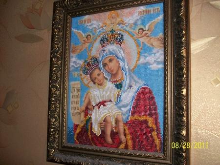 """Эту иконку вышила для мамы  """" Мир Бисера.com - бисероплетение, бисер схемы, мастер классы."""